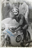 27543 Moto Rennen Foto Con Autografo Manfred Mangnus Stampatria 1963 Honda
