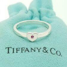 Tiffany & Co Sterling Silver 925 Paloma Picasso Ruby Crown of Hearts Ring 7.5