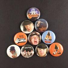 "A Clockwork Orange 1"" Button Pin Lot Stanley Kubrick Classic Anthony Burgess"