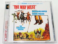 Bronislau Kaper THE WAY WEST André Previn Kirk Douglas Soundtrack CD (Near Mint)