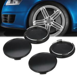 4Pcs/Set 68mm Universal Car Wheel Center Hub Caps Covers ABS Black Blank Emblem