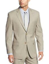 Sean John Classic Fit Taupe Tan Stepweave Two Button Flat Front Suit
