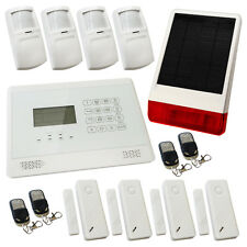 Wireless House Alarm Burglar White Sentry Pro Solar Kit 3 Solar Powered Siren