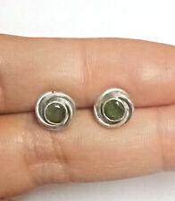 Natural Peridot Gemstone Mini Stud Earring Sterling Silver Stud Earring