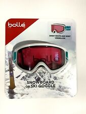 Bolle Snowboard/ Ski Goggle - Shiny White and Mint Vermillon - New in Packaging