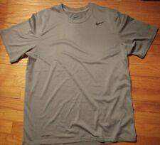 Nike Dri Fit Men's Gray Athletic Short Sleeve Shirt Size L