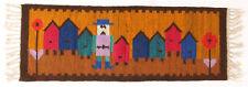 More details for bee keeper vintage 1970's polish folk art textile wall hanging