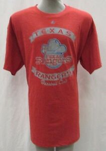 Texas Rangers Men's Big & Tall 2XLT-5XL Throwback Graphic T-Shirt MLB Red A14