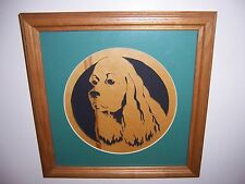 Nice Cocker Spaniel Dog Scroll Cut Picture by Oak Tree Woodworks Ontario Ny.