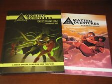 Amazing Adventures Companion+Players Guide NEW pulp rpg D&D AD&D C&C Troll Lord