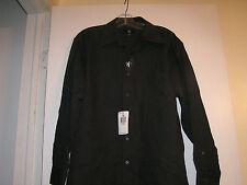 Mens Calvin Klein CK Purple Red Pin Stripes Dress Shirt size Large 16 - 32/33