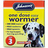 Johnsons Wormer Dog Worming Tablets Size 3 Large Dogs Roundworm Tapeworm 40kg