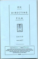 David Mamet On Directing Film Signed Autograph ARC Advance Readin Copy Book