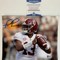 Autographed/Signed TUA TAGOVAILOA Alabama Crimson Tide 8x10 Photo Beckett COA #3