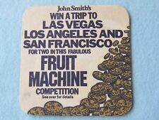 Cool 1983 Beer COASTER ~ JOHN SMITH'S Brewery Fabulous Fruit Machine Competition