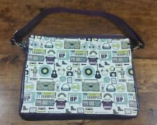 """RETRO LOOK 15 - 16"""" LAPTOP CASE BAG PURPLE AND GREEN BRAND NEW"""