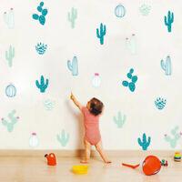 Tropical Succulent Plants Cactus Nursery Wall Sticker Decal Art Mural  DIY Decor