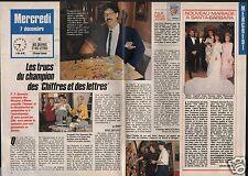 Coupure de presse Clipping 1988 Des Chiffres et des Lettres l 'émission  2 pages