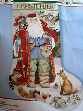 Christmas Holiday Bucilla Needlepoint Stocking Kit,WOODLAND SANTA,60701,Gillum