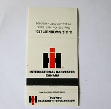 VINTAGE IHC MATCHBOOK INTERNATIONAL HARVESTER CANADA CARNDUFF SASKATCHEWAN