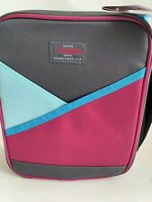 Thermos  insulated lunch bag Tote Fuchsia Blue Grey Genuine