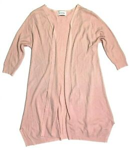 ly studio 3/4 textured open front cardigan sweater mauve dusty rose size small??
