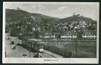 AK Weinheim a.d. B. mit Straßenbahn Foto Ansichtskarte gelaufen 1951