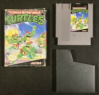 Teenage Mutant Ninja Turtles w/ Box Nintendo NES tested original authentic