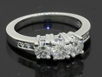 14K WG 1.06CTW diamond 3-stone wedding/engagement ring w/ .38CT ctr. size 6