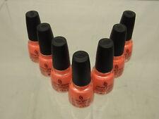 China Glaze Nail Polish, Flirty Tankini, 0.5 Fluid Ounce 7 pack