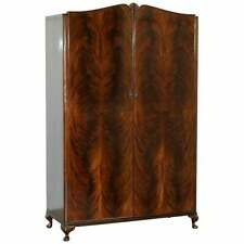 STUNNING BEITHCRAFT SCOTLAND FLAMED MAHOGANY LARGE WARDROBE PART OF LARGE SUITE