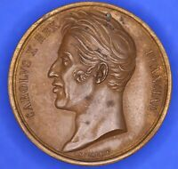 France French medallion Charles X 1825 Coronation Enthroned Gayrard 35mm [18163]