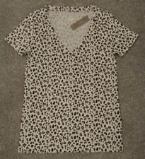 Nwt Sz Xxs J Crew Woman's Leopard Print V Neck T Shirt Top
