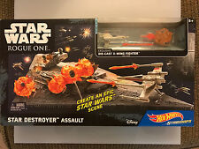 Hot Wheels Starships STAR DESTROYER ASSAULT Play set w/ Exclusive X-Wing Fighter