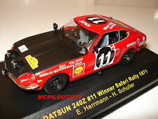 IXO RAC044 DATSUN 240Z N°11 WINNER SAFARI RALLY 1971  au 1/43°