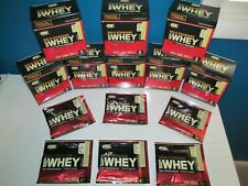 Gold Standard Whey Lot Boxes 8=56 Individual Packet Protein Powder Vanilla 11/19
