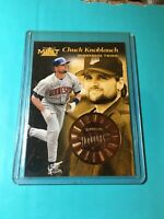 CHUCK KNOBLAUCH 1997 PINNACLE MINT CARD #19 MINNESOTA TWINS
