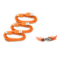 3X 3FT MICRO USB DATA SYNC CHARGER CABLE ORANGE DROID HTC EVO ONE NEXUS 7 KINDLE
