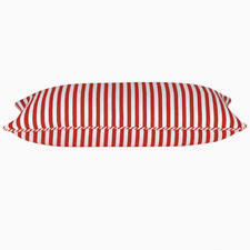 Rectangle Dandi Red and White Striped Cushion Cover RRP $27.95ea 35cmx60cm