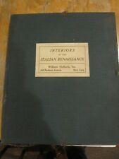 RARE INTERIORS OF THE ITALIAN RENAISSANCE 1916 W, HELBURN PORTFOLIO PHOTOGRAPHS!