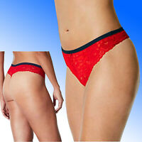 Marks & Spencer rrp £8 Each RED BUTTERFLY LACE Thong Knickers Briefs