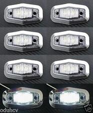 8 x LED Seite weiß Chrom-Blende Begrenzungsleuchten 24V für LKW MANN DAF IVECO