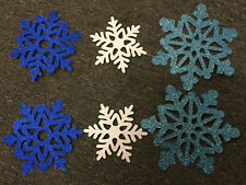 Disney Frozen Themed Party Supplies 6 Snowflake Glitter Cutouts Decoration Xmas