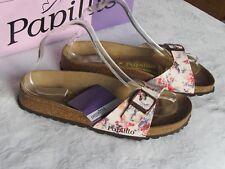 NEW Papillio Ladies Cream White Floral Mules Sandals UK Size 5.5 EU 39