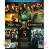 Pirates of the Caribbean 5-Movie Complete Collection Blu-ray Region Free UK I...