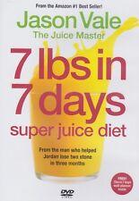 Jason Vale 7 Lbs in 7 Days Super Juice Diet DVD - Weightloss, Health, Juicing