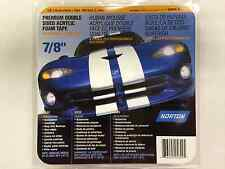 "*NEW* Norton Premium Double Sided Acrylic Foam Tape 7/8"" X 20 Yards *FREE SHIP*"