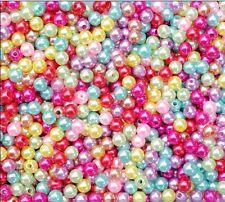 Wholesale Lots Bulk 500X Multicolor Round Pearl Imitation Glass Beads 4mm u87e