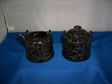 CERAMIC KETTLE SUGAR AND CREAMER SET BY KIMPLE