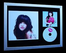 CARLY RAE JEPSEN+SIGNED+FRAMED=100% AUTHENTIC+EXPRESS GLOBAL SHIP+KISS+CALL ME!!